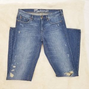Madewell 29x34 Denim Jeans Blue Distress Straight